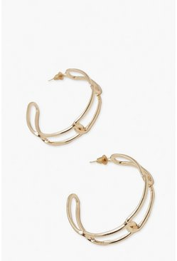 Gold metallic Chain Hoop