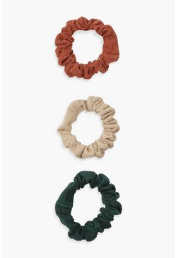 Rust orange Scrunchies i frotté (3-pack)