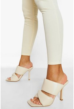 Nude Soft Double Strap Mule