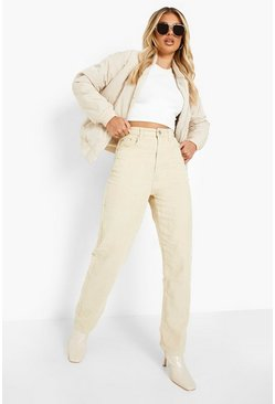 Stone beige Cord Relaxed Straight Leg Jeans