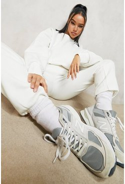 Ecru white Basic Regular Jogger