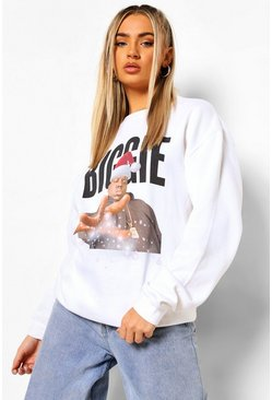White Biggie Xmas Sweatshirt