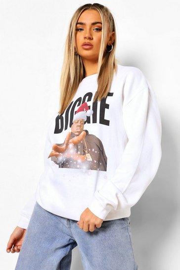 White Biggie Xmas Sweatshirt