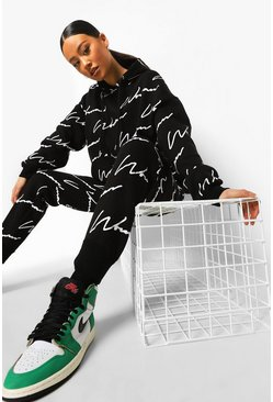 Black Woman All Over Print Tracksuit