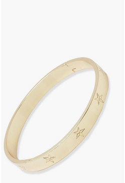 Gold metallic Star Bangle