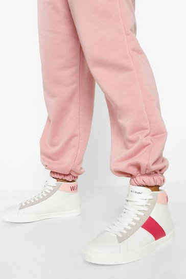 Pink Official High Top Trainers