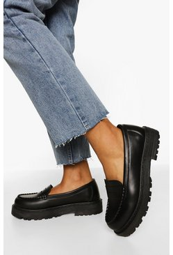 Black svart Chunky loafers