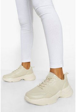Official Branded Chunky Trainers, Beige Бежевый