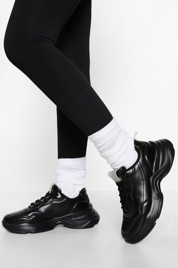Black Official Branded Chunky Trainers