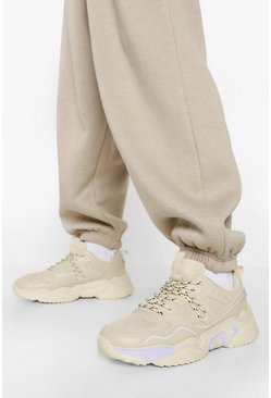 Stone beige Official Cleated Sole Chunky Trainers