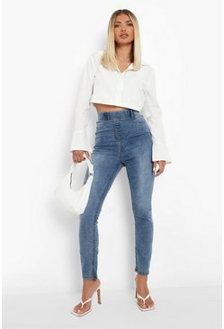 Ice blue Basic Jeggings i denim