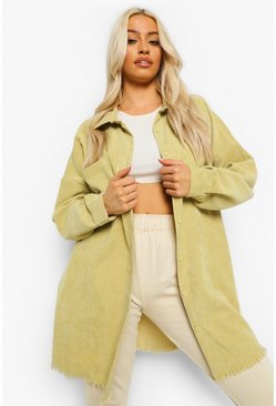 Desert yellow yellow Cord Oversized Shirt