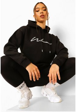 Black Woman Hoodie And Legging Tracksuit