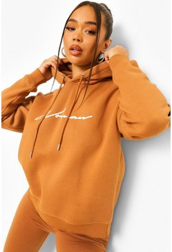 Camel beige Woman Hoodie And Legging Tracksuit