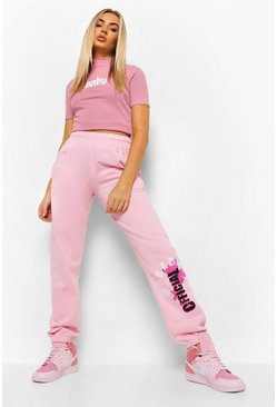 Pink Official Vlinder Joggingbroek
