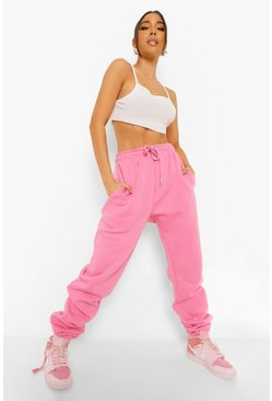 Pink Ruched Leg Loose Fit Jogger