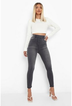 Light grey grå Basic Jeggings