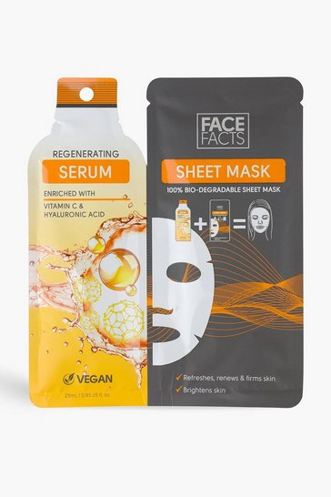 Orange Face Facts Serum Sheet Mask - Regenerating