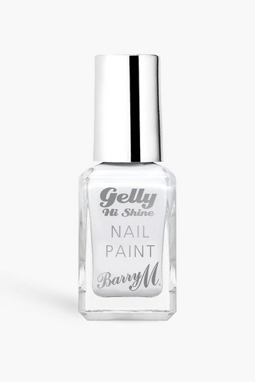 White Barry M Gelly Nail Paint - Cotton