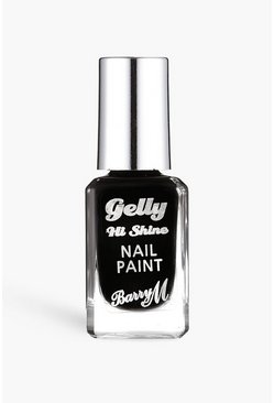 Barry M Gelly Nail Paint - Black Forest