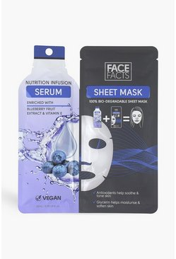 Mascarilla de serum nutritiva de Face Facts , Azul