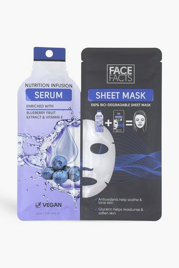 Blue Face Facts Serum Sheet Mask Nutrition Infuse