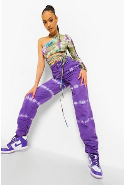 Purple Tie Dye Denim Jeans