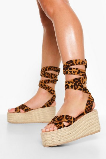 Leopard multi Crossover Wrap Up Wedge