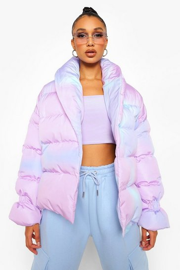 Multi Ombre Puffer Jacket