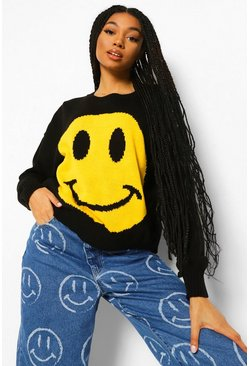 Black Face Graphic Jumper