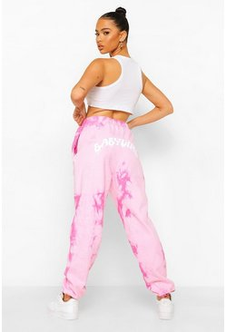 Pink Tie Dye Baby Girl Print Jogger