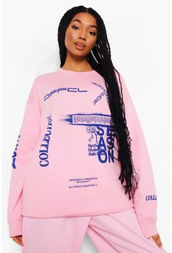 Sweat oversize Official, Rose