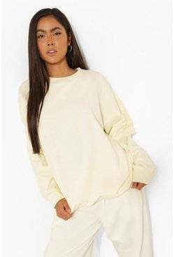 Lemon yellow Basic Oversized Sweatshirt
