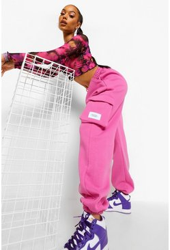 Pink Utility Oversized Jogger, Розовый