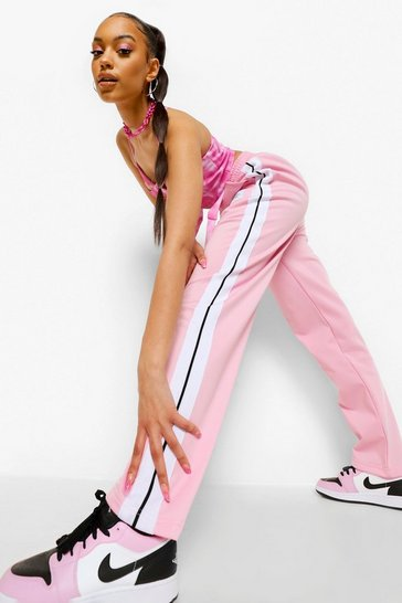Pink Side Stripe Track Pant