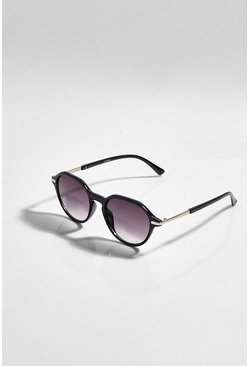 Black Tinted Arm Detail Sunglasses