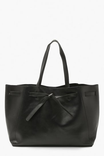 Black Knot Front Tote Bag