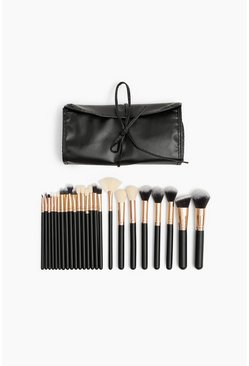 Kit con 24 pennelli per make up Zoe Ayla, Nero