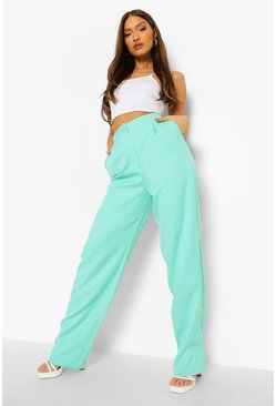 Turquoise blue Mix & Match Brights Straight Leg Pants
