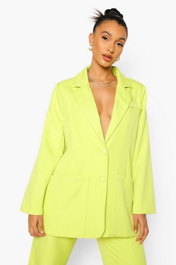 Lime green Mix & Match Brights Super Oversized Blazer