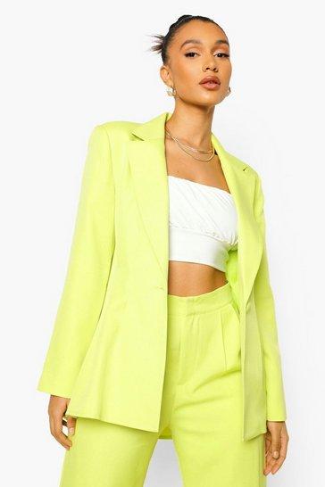 Lime green Mix & Match Brights Pleat Tailored Blazer