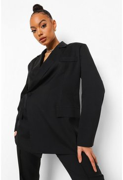 Wrap Blazer & Tailored Flared Trouser Suit Set