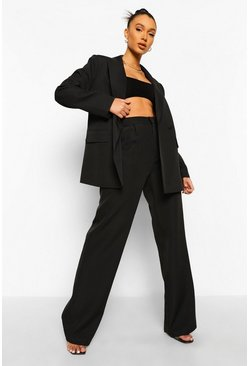 Black Mix & Match Brights Wide Leg Trousers