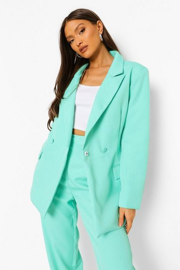 Turquoise blue Mix & Match Brights Fitted Blazer