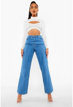 Light blue blue High Rise Dad Jeans