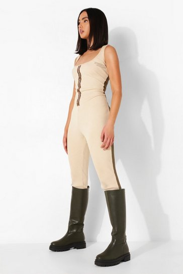 Khaki Wide Fit Chunky Pull On Knee High Boots