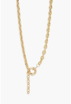 Gold metallic Centre Clasp Chunky Chain