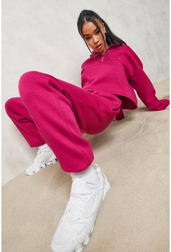 Pink Official Half Zip Cropped Tracksuit