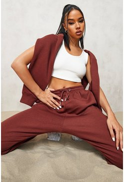 Chocolate brown Official Cropped Zip Through Tracksuit