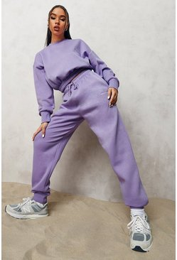 Official Cropped Sweater Tracksuit , Purple violett
